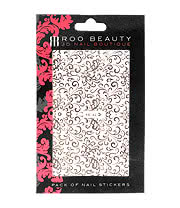 Nail Art Sheets XB-90 Swirls (Silver)