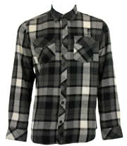 Sullen Burnt Flannel Shirt (Black)