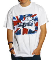The Sex Pistols Anarchy In The U.K. Print T Shirt (White)