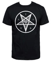 Blue Banana Occult Cat T Shirt (Black)