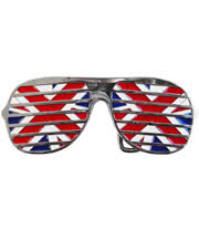 Blue Banana Union Jack Sunglasses Belt Buckle (Red/White/Blue)