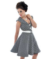 Voodoo Vixen Flower Net Mini Dress (Black/White)