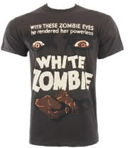 White Zombie T Shirt (Brown)