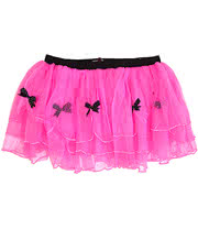 Wild Rose London Frilly Tutu Skirt with Bows (Pink)